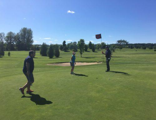 Magnifique journée de golf hier