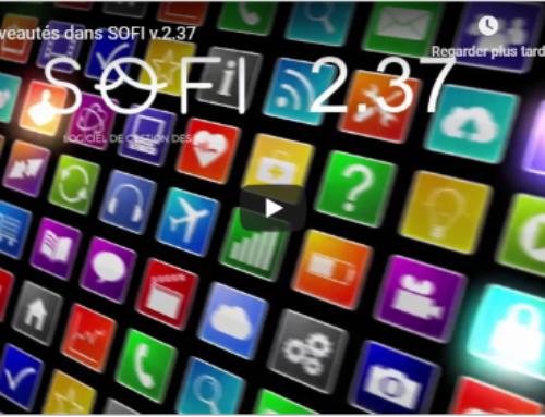 Nouvelle version de SOFI v.2.37